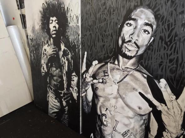Bob Marley and 2Pac