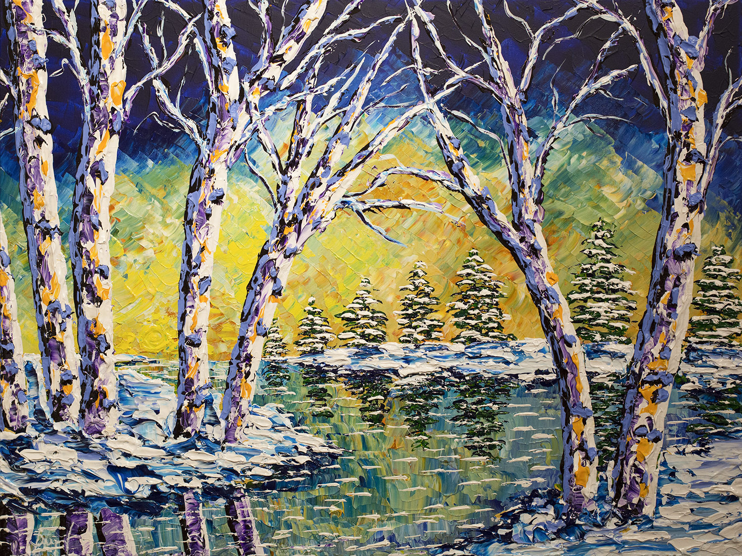 Winter melody of trees 30x40