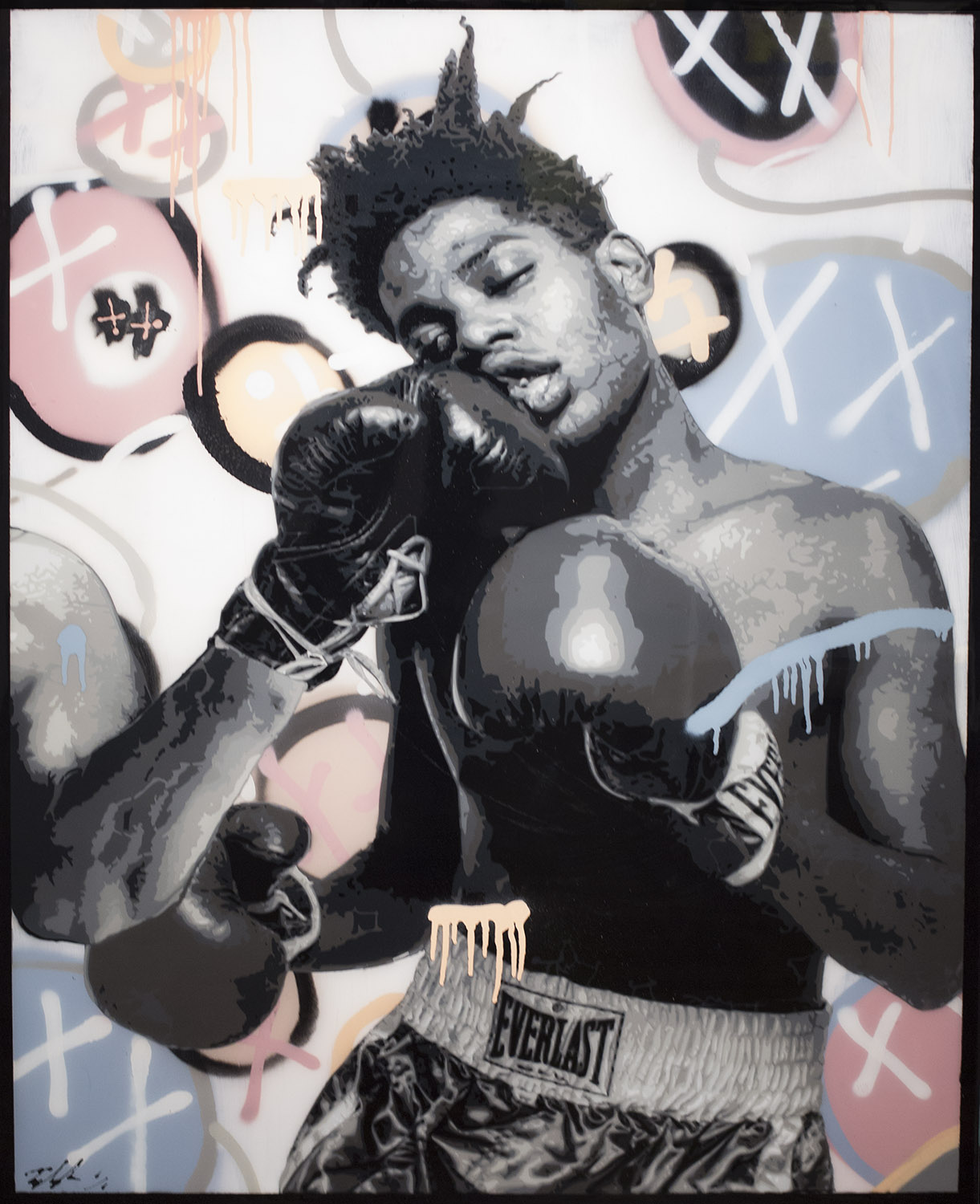 Basquiat,49.5 x 35.5 (with Frame) Available at the Aspen art Gallery