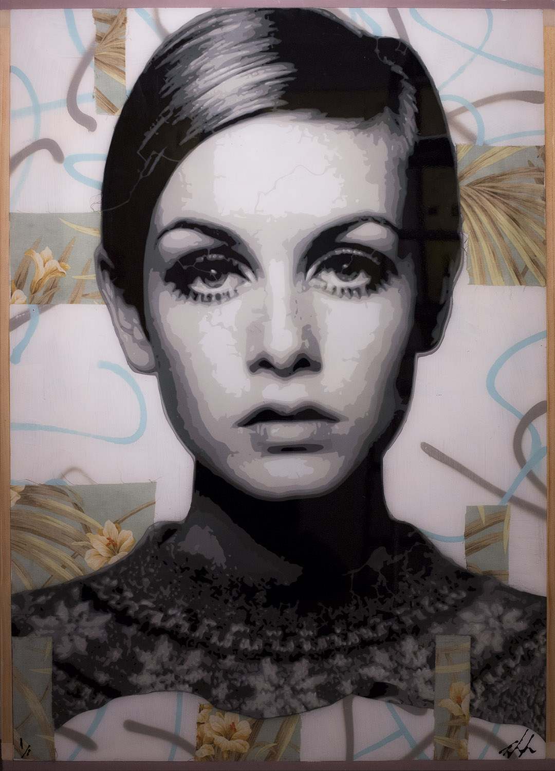 Twiggy 49.5 x 35.5 (with framing) Available at the Aspen art Gallery