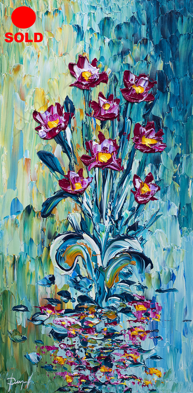 Colorful Lotus of the Bright Waters 40x20