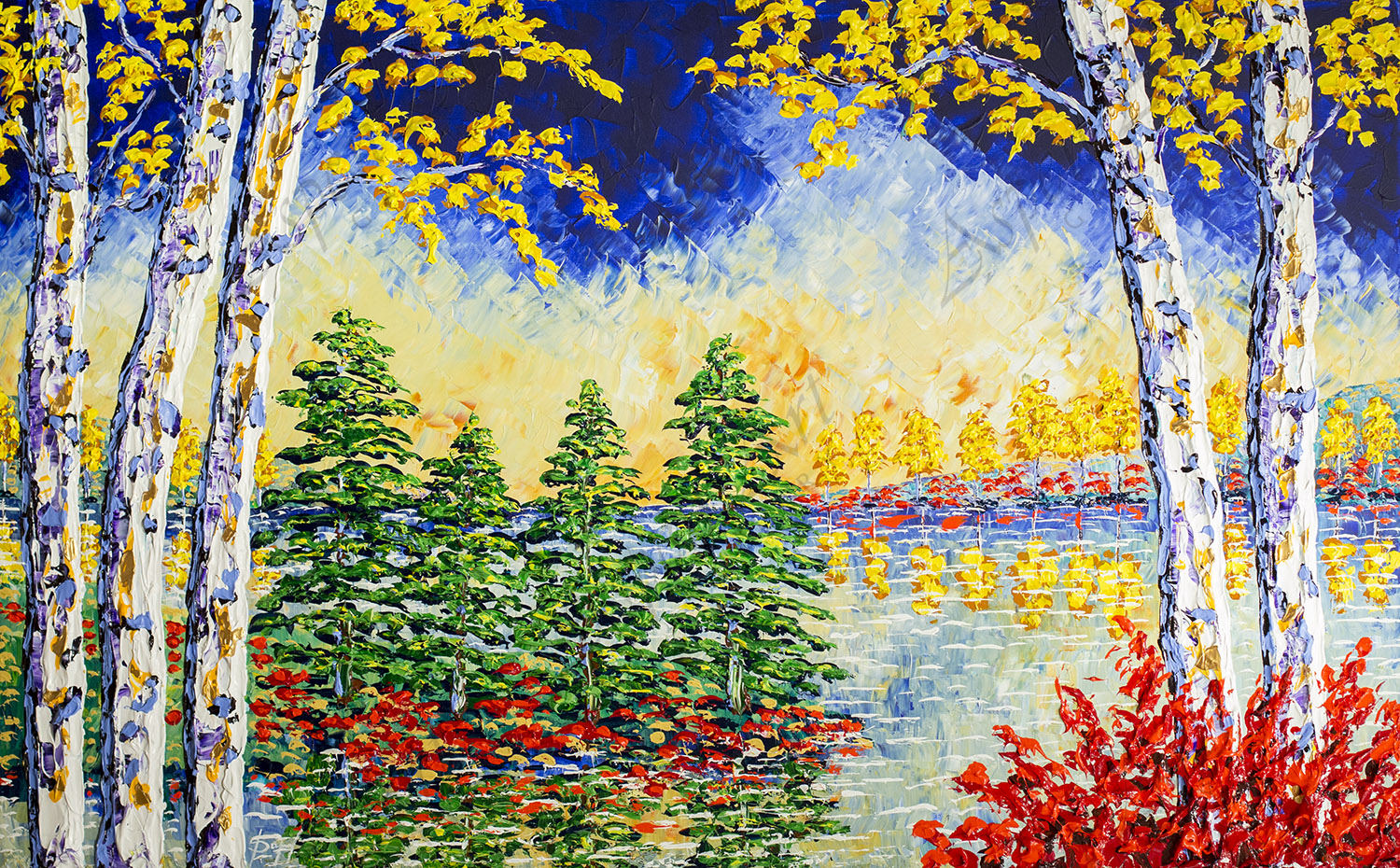 Forest of Mighty Colors 36x60