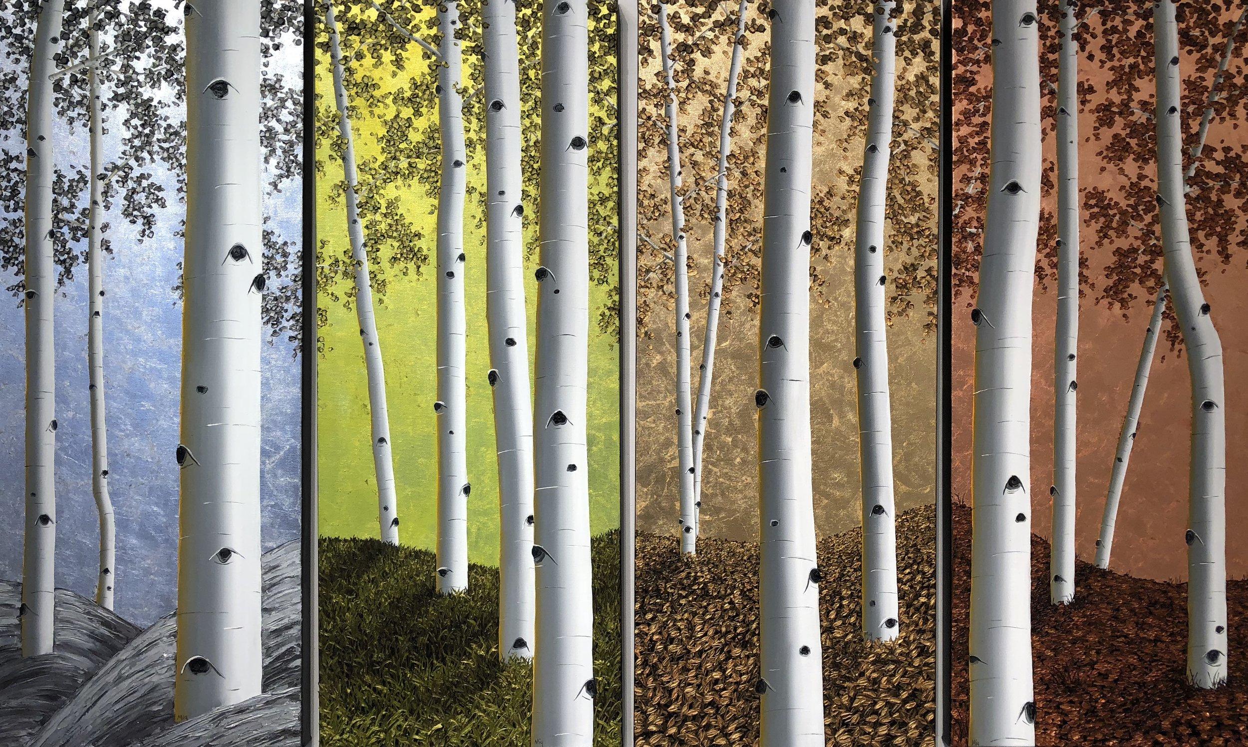 Seasons of Vail 40x16x3
