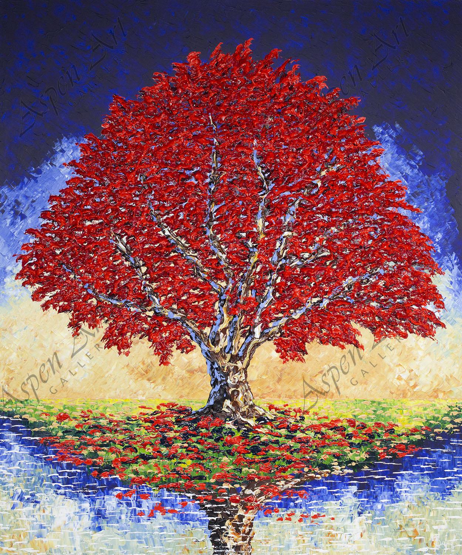 Majestic Maple of Bright Autumn, 2018, 72x60