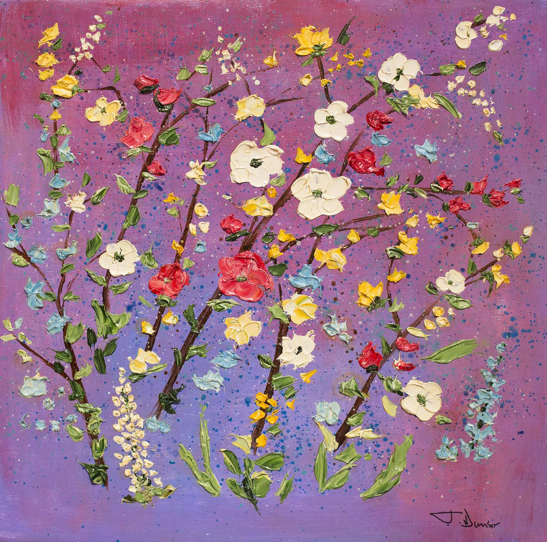 "JUDITH DUNBAR ""Wild Flowers"" 16x16"