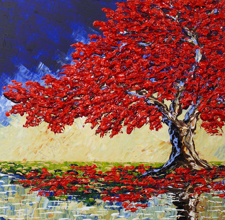 Autumn Maple of Colors 30x30
