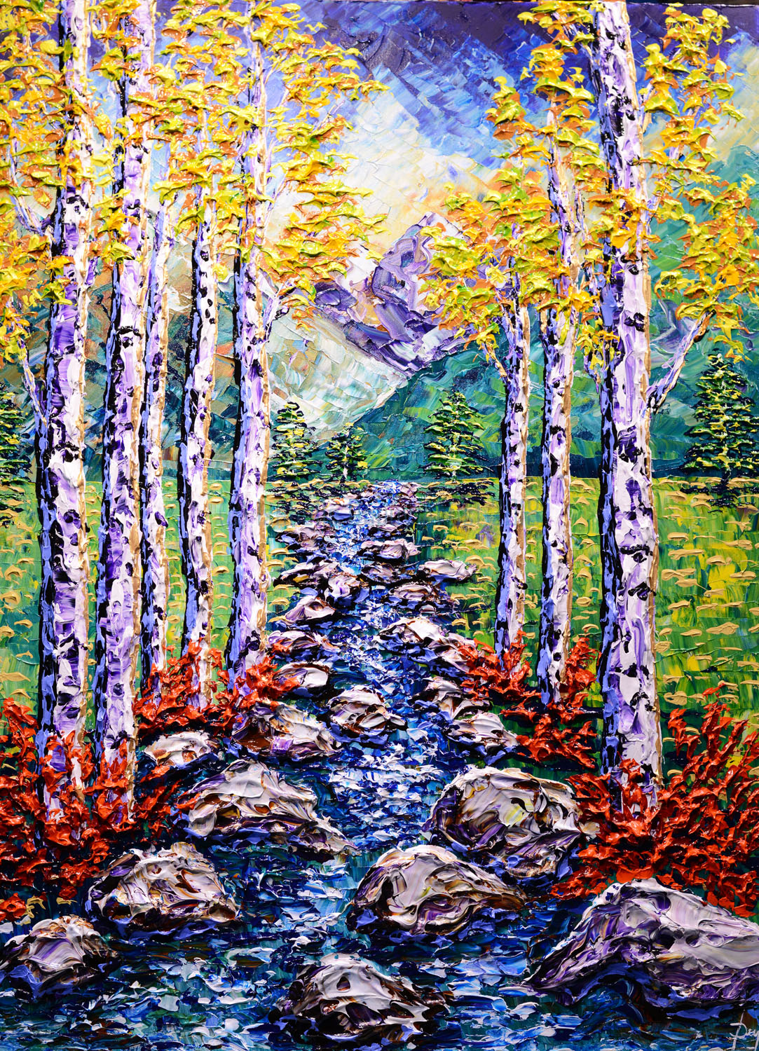 Streams of the Mountain Forest, 2018, 48x36