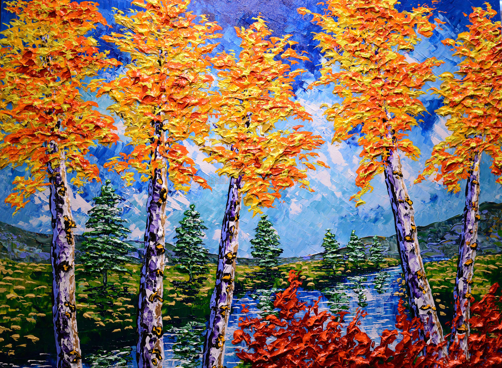 Tall Trees of the Delightful Forest, 2017, 36x48