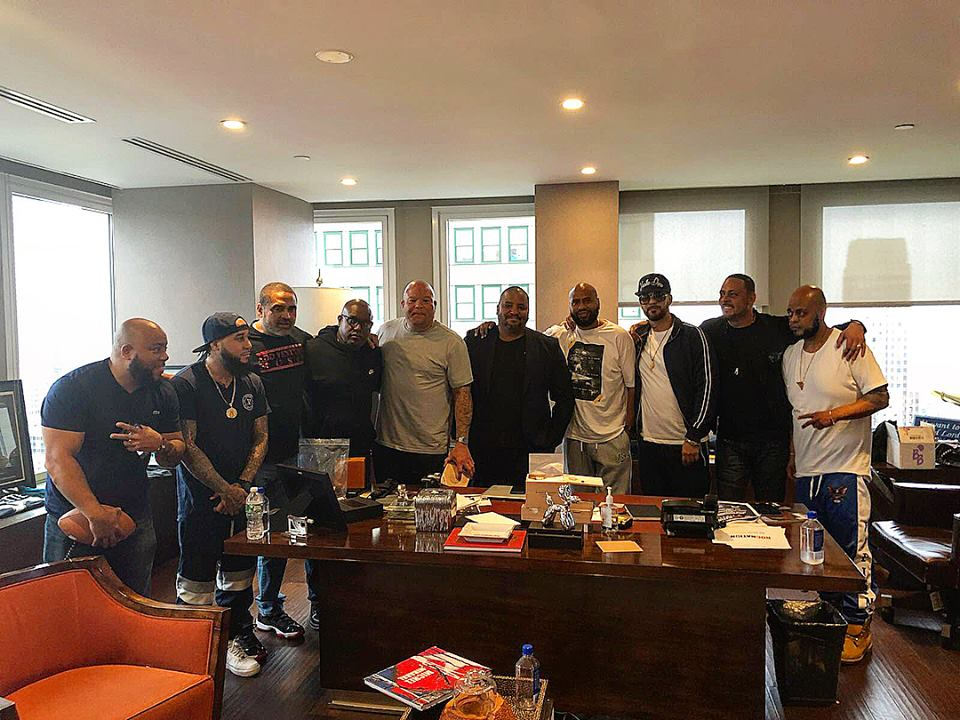 Michel hanging out with hip hop's biggest names including rapper Fat Joe and J Cruz.