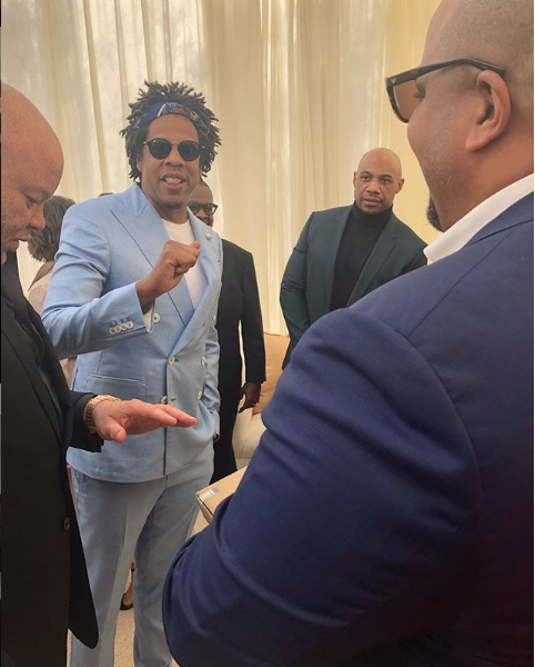 Michel with Roc Nation Founder, Jay-Z