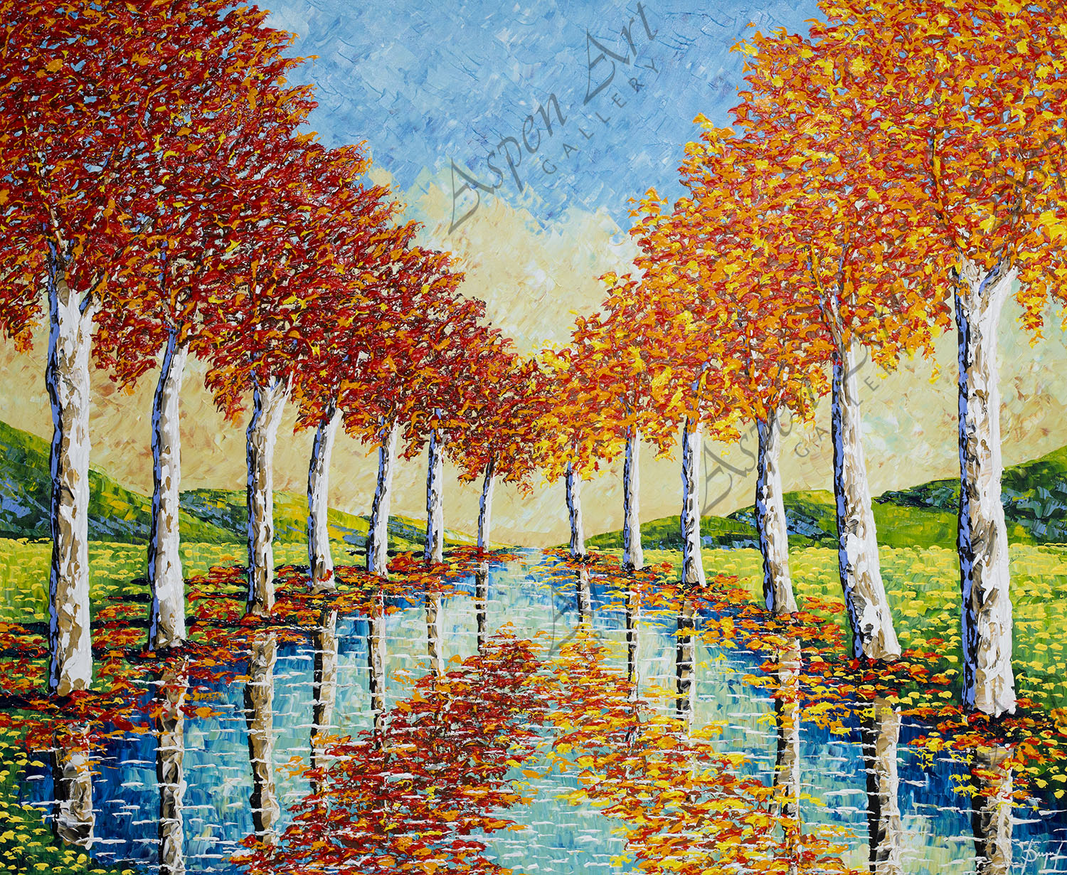 Peaceful Sycamores of Enchanted Streams 60x72.