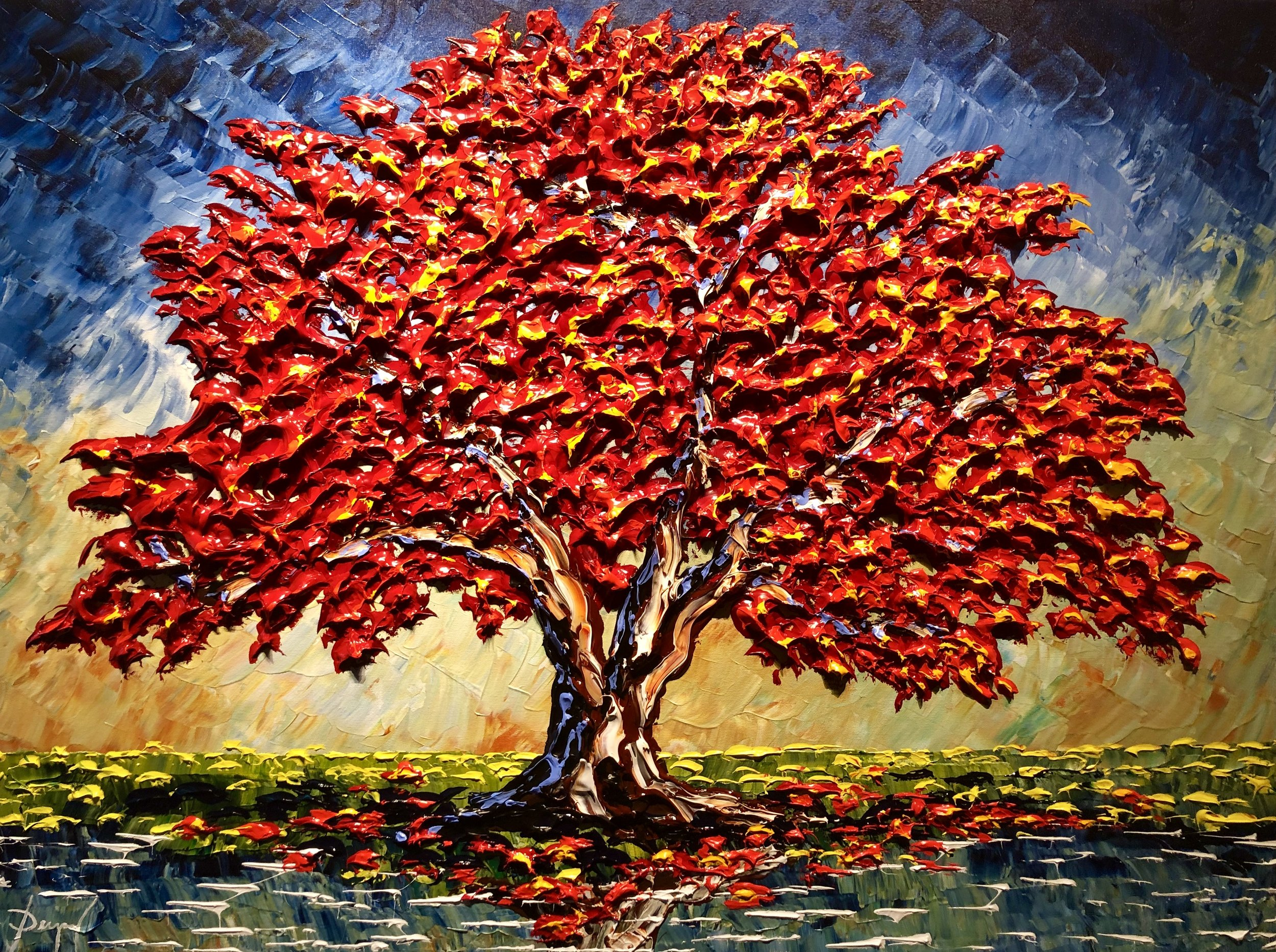 """Dupuy """"Maple of Glorious Blue Skies"""" 30x40"""