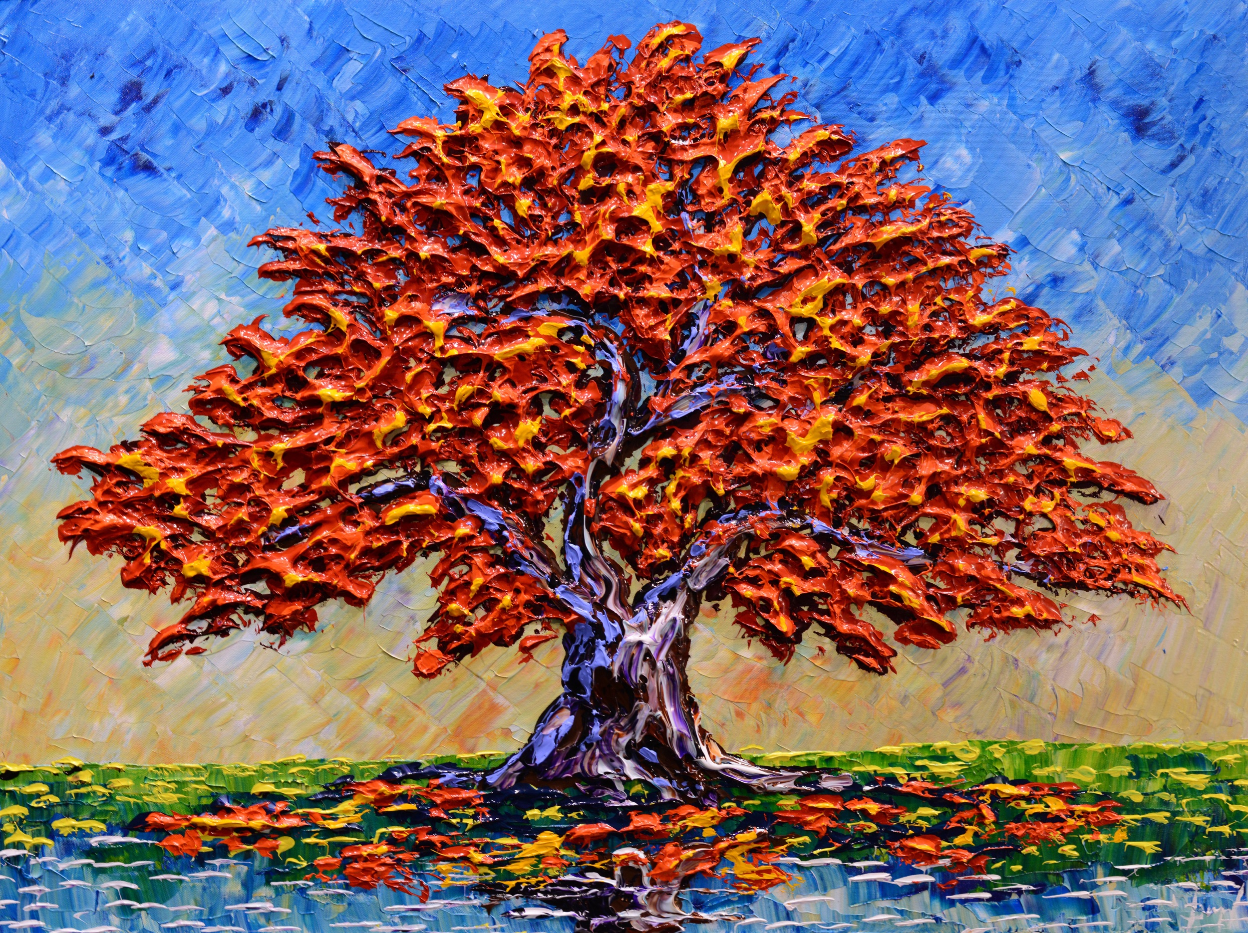 """Colorful Maple of Beautiful Autumn"" 30x40"