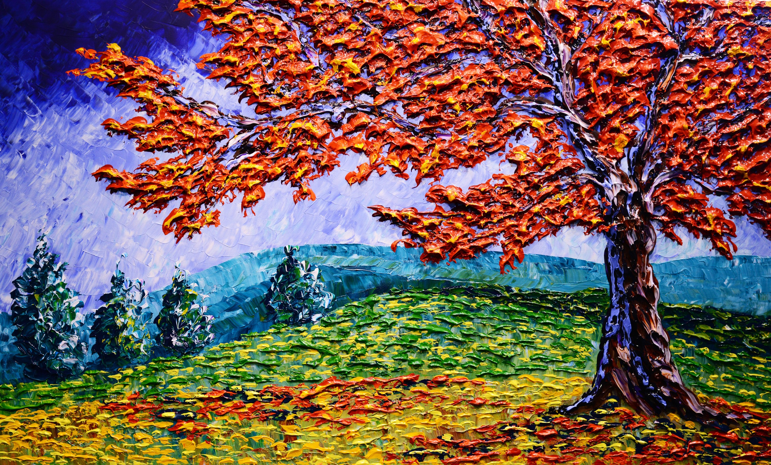 """Bright Maple of the Colorful Season"" 36x60"