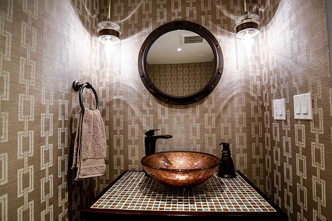 Powder Bathroom of K Residence