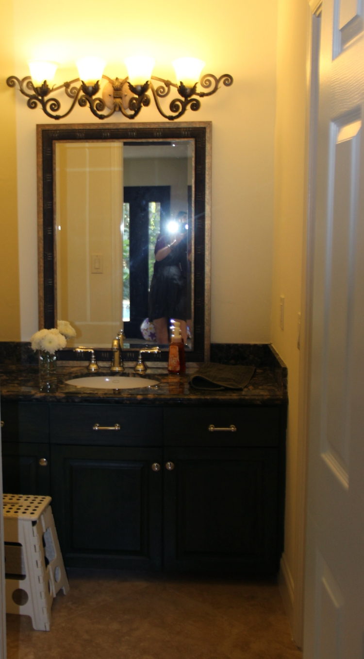 BEFORE of a Client's Powder Bathroom Renovation