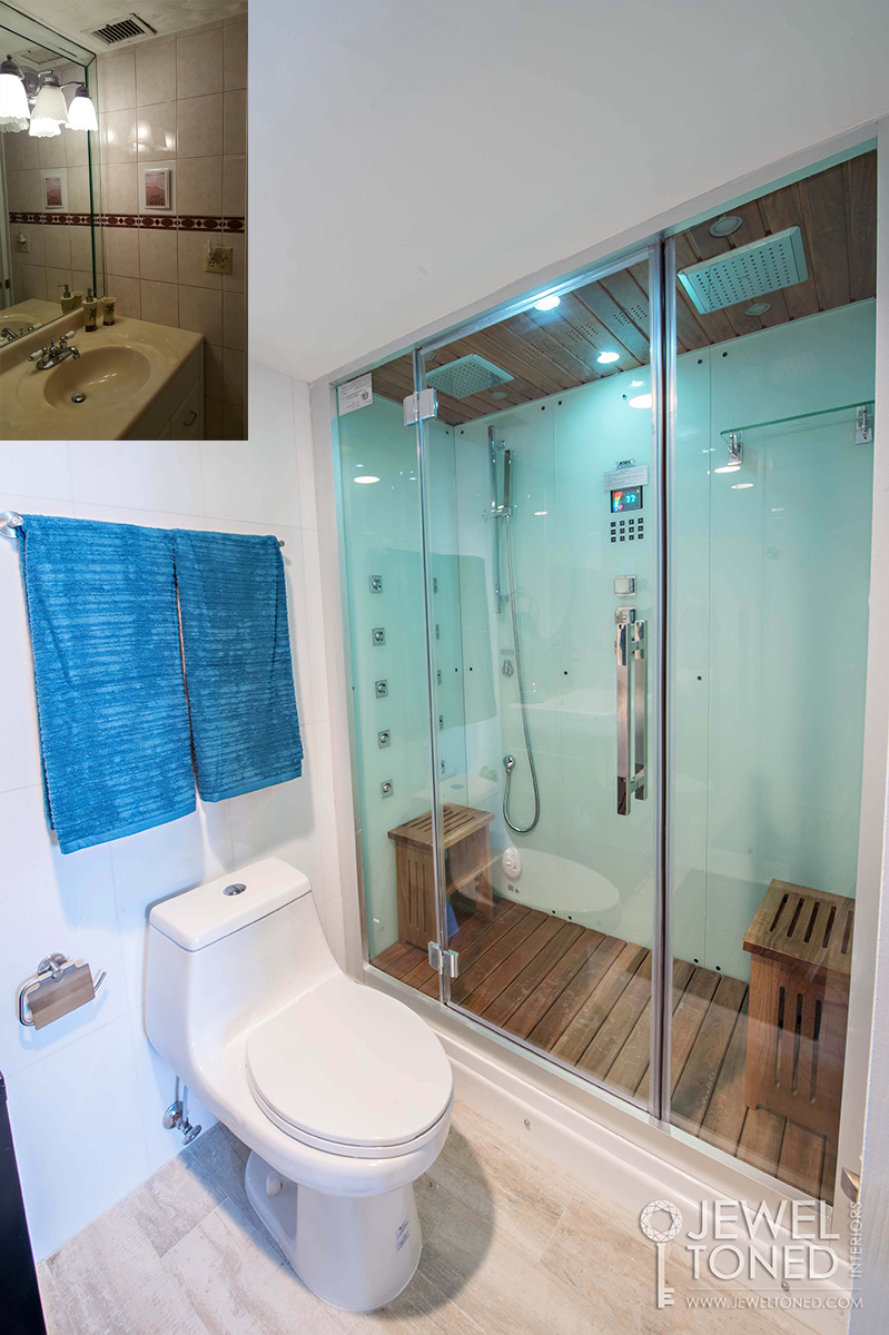 Before and After of Master Bathroom Shower