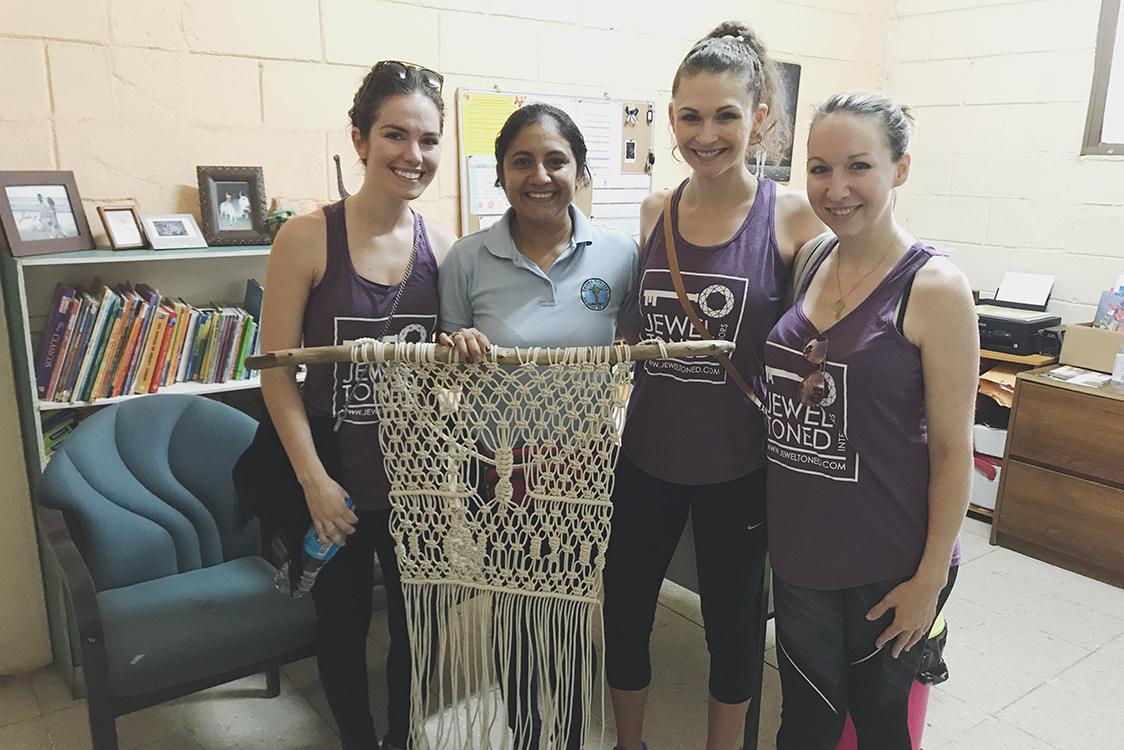 (Left to Right) Devin Chase, Jebon, the director of the Carolina de Sirker school, Jaclyn Szerdi and Joy Lynsky