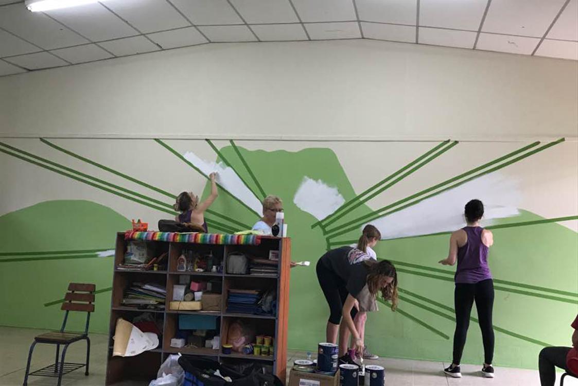Progress image of Mural #1