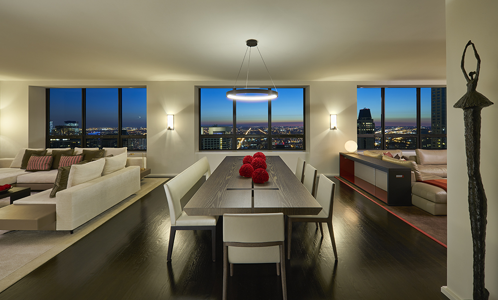 Impressive Views from the Living Spaces in a Residence at The Watertower