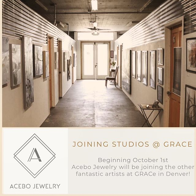 NEW STUDIO!!! So thrilled to have found a space with @studiosatgrace in Denver. I'll be joining them October 1st! Hooray! #acebojewelry #handmadejewelry #modernjewelry #minimalist #jewelrydesigner #ethicallymade #contemporaryjewelry #finejewelry #contemporarycraft #madebyhand #minimalistdesign #denverartist #denverart #studiosatgrace