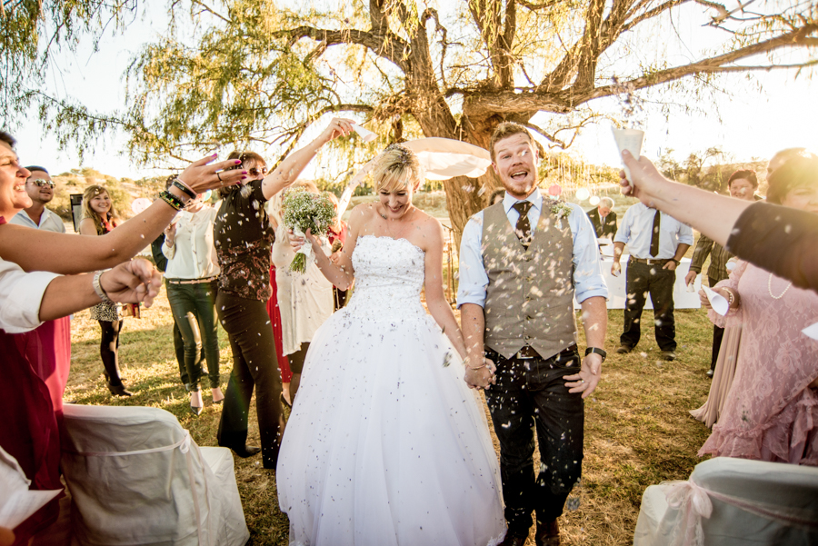 Married! Namibian wedding photography by Willem Vrey