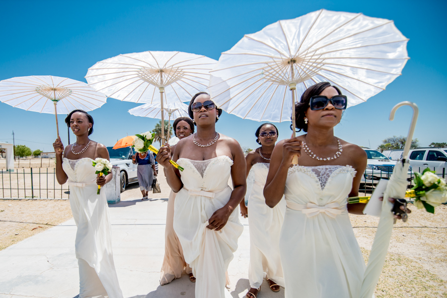 Bridesmaids traditional Namibian wedding photography by Willem Vrey