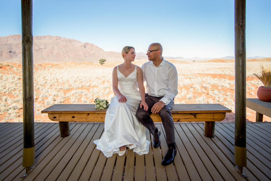 Beautiful deck Namibian wedding photography by Willem Vrey