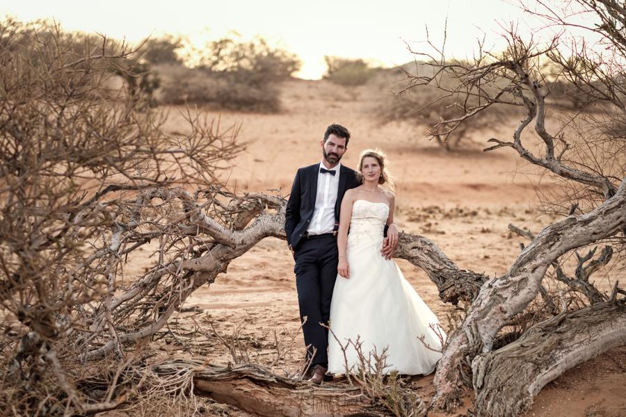 Namib desert couple's photo Namibia wedding photography by Willem Vrey