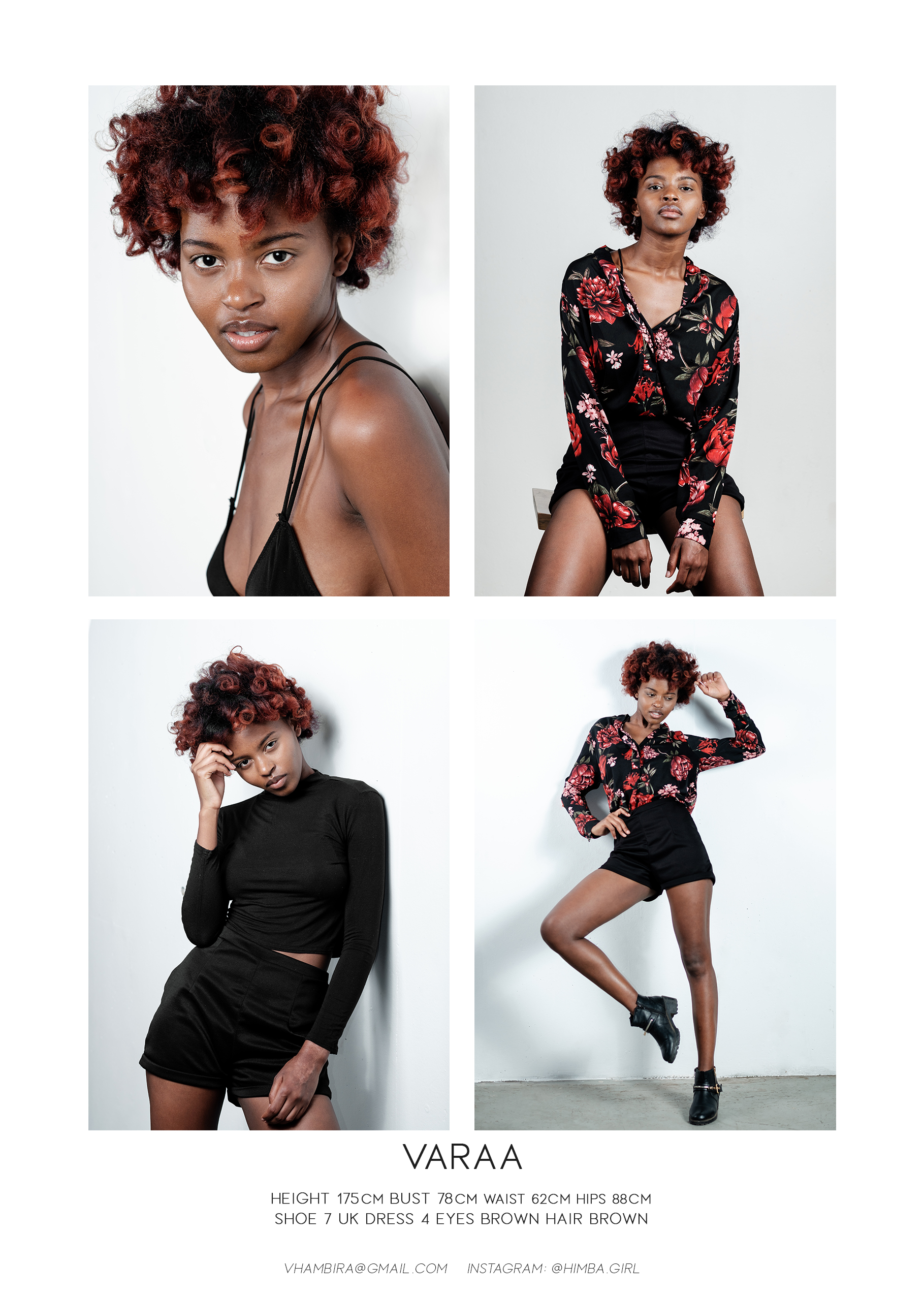 Model's digitals comp card by Willem Vrey Varaa