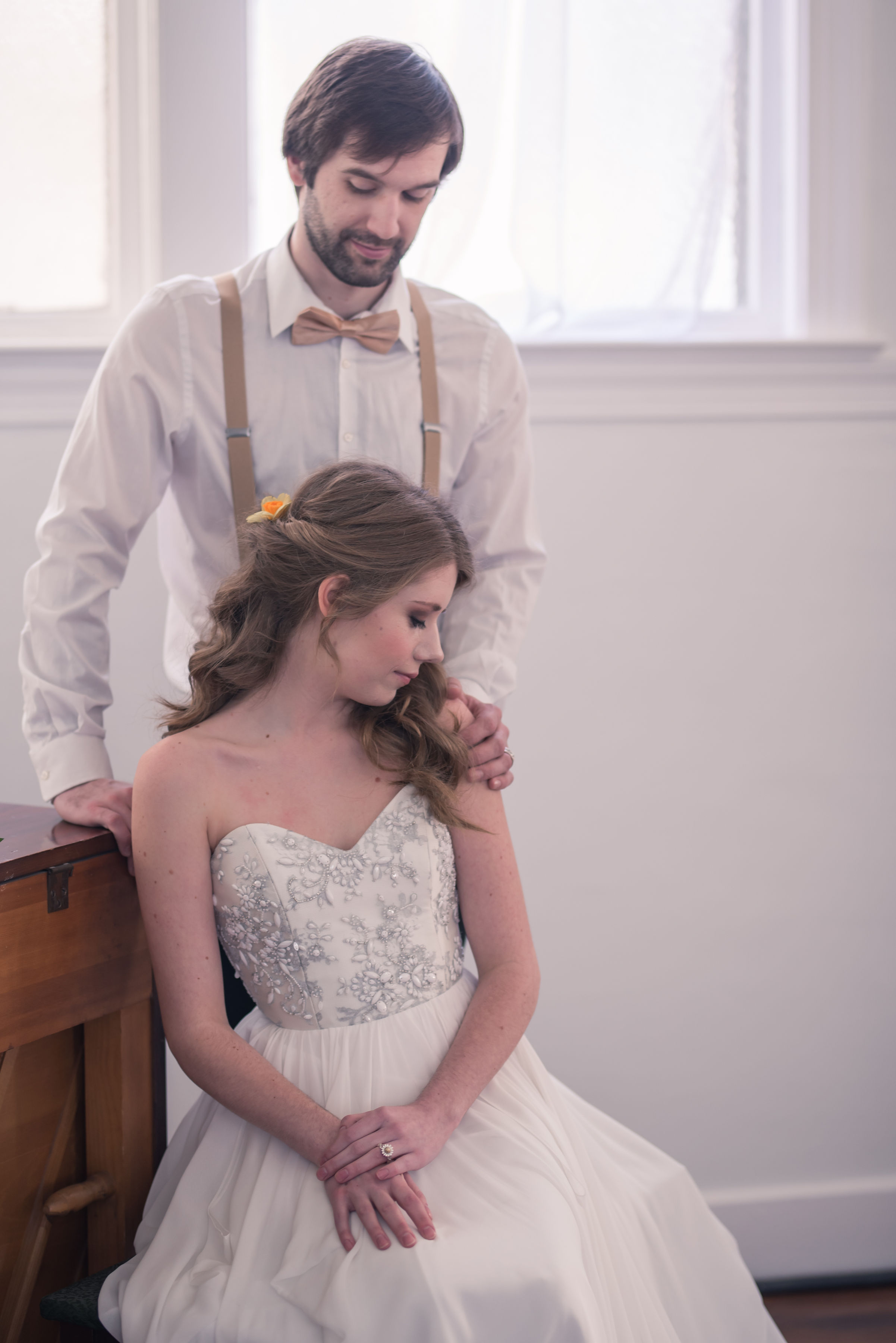 Picture By:  Captured By Kelsey  Dress:  Ivory Loft Bridal  Ring:  Jewelry Set In Stone