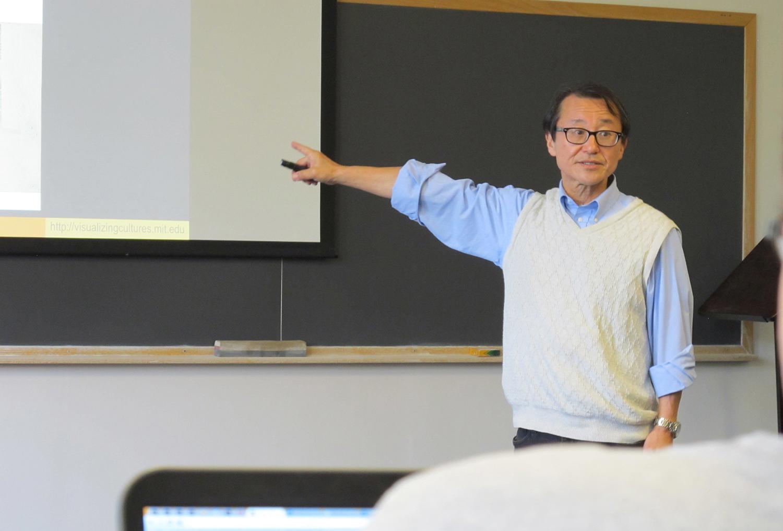 Shigeru Miyagawa, teaching at MIT, 2015