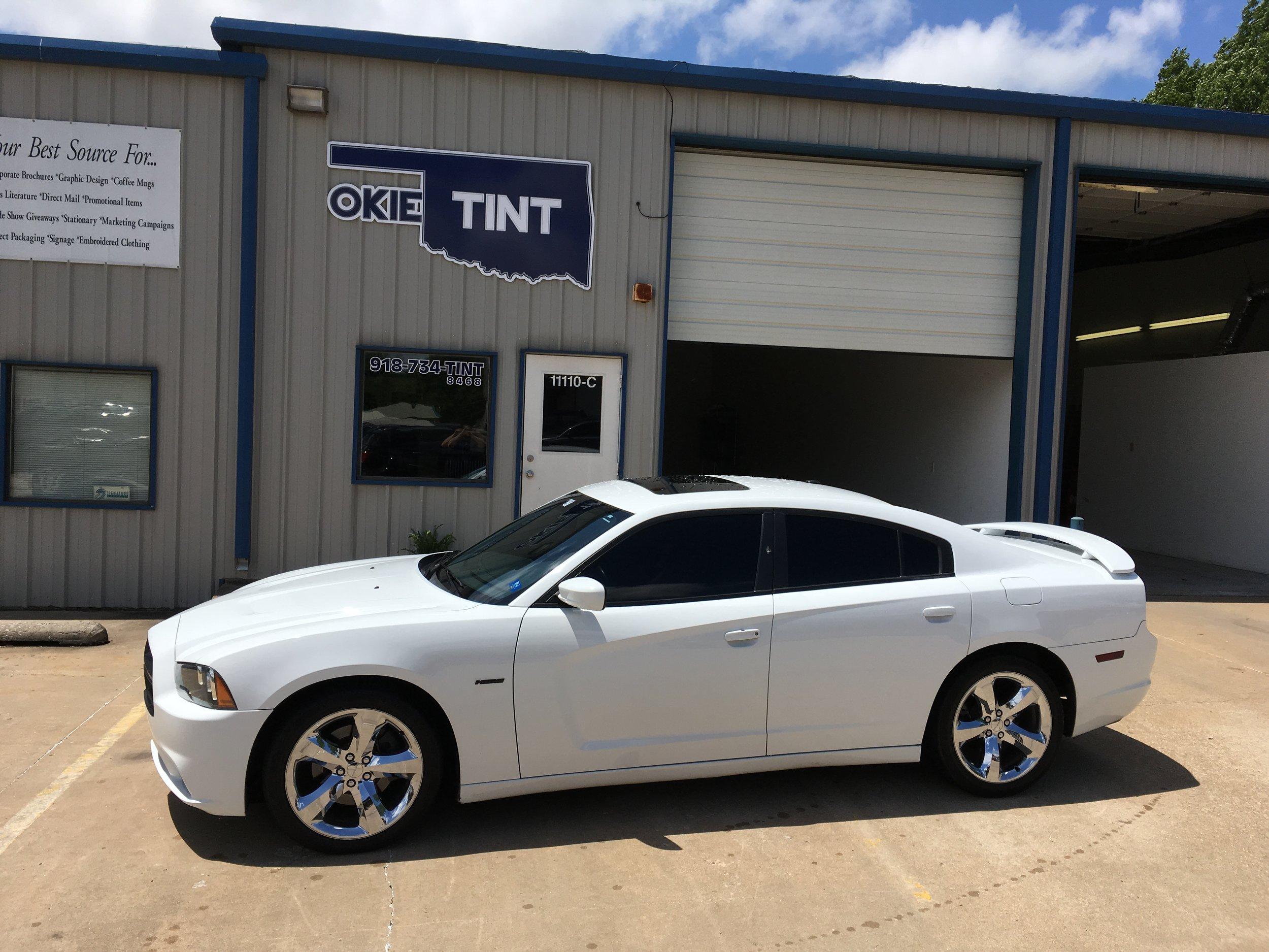 OkieTint Window Tint White Car.JPG