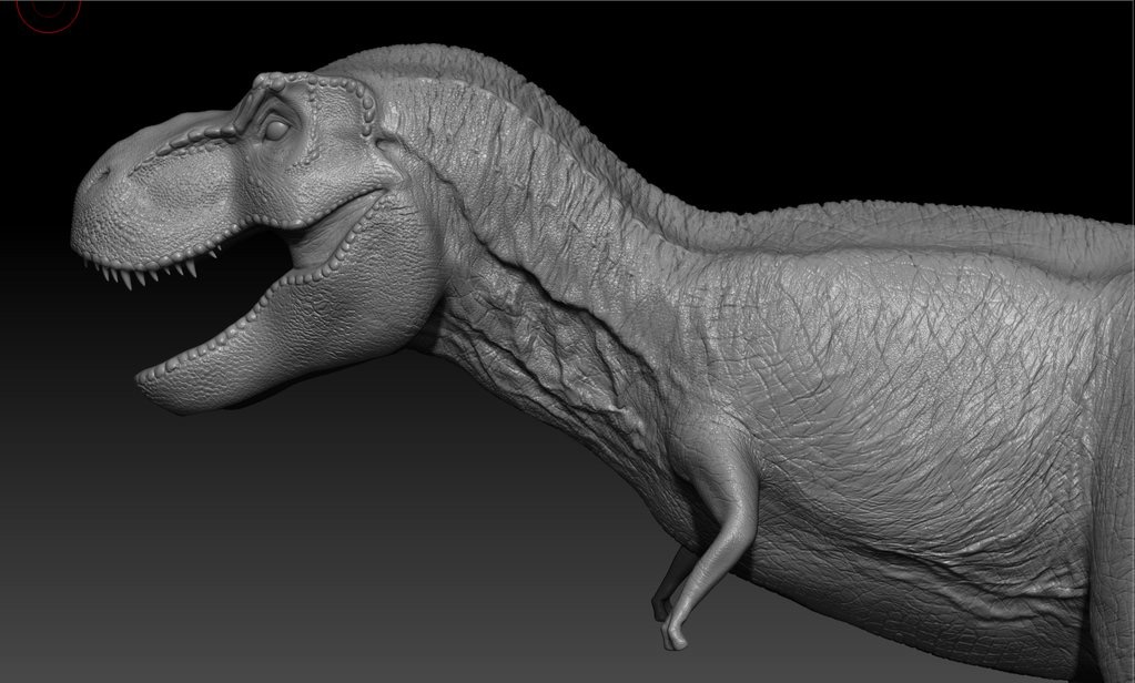 Rexy in her currently rendered state.