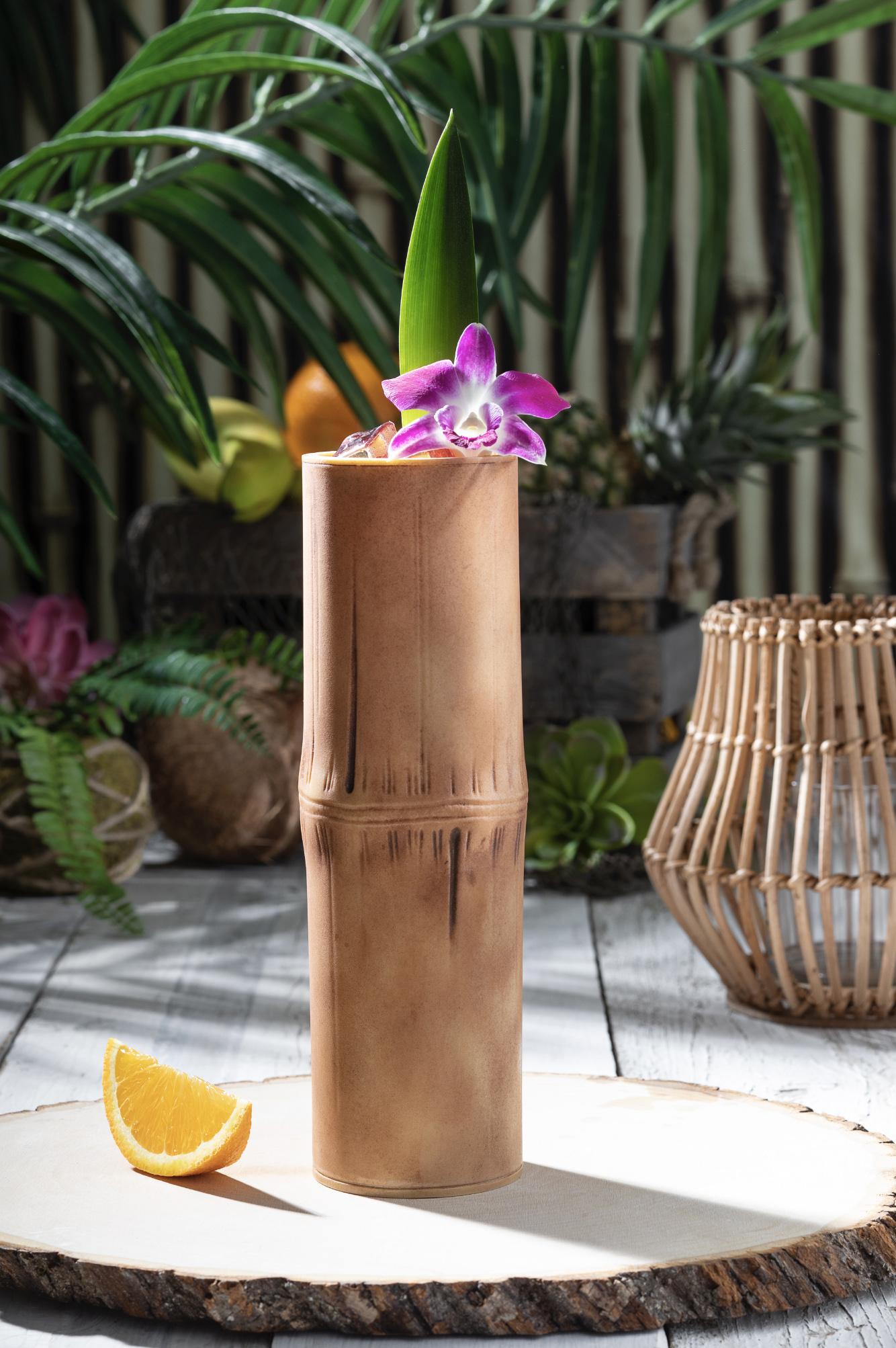 Bamboo-Style Tiki Cup