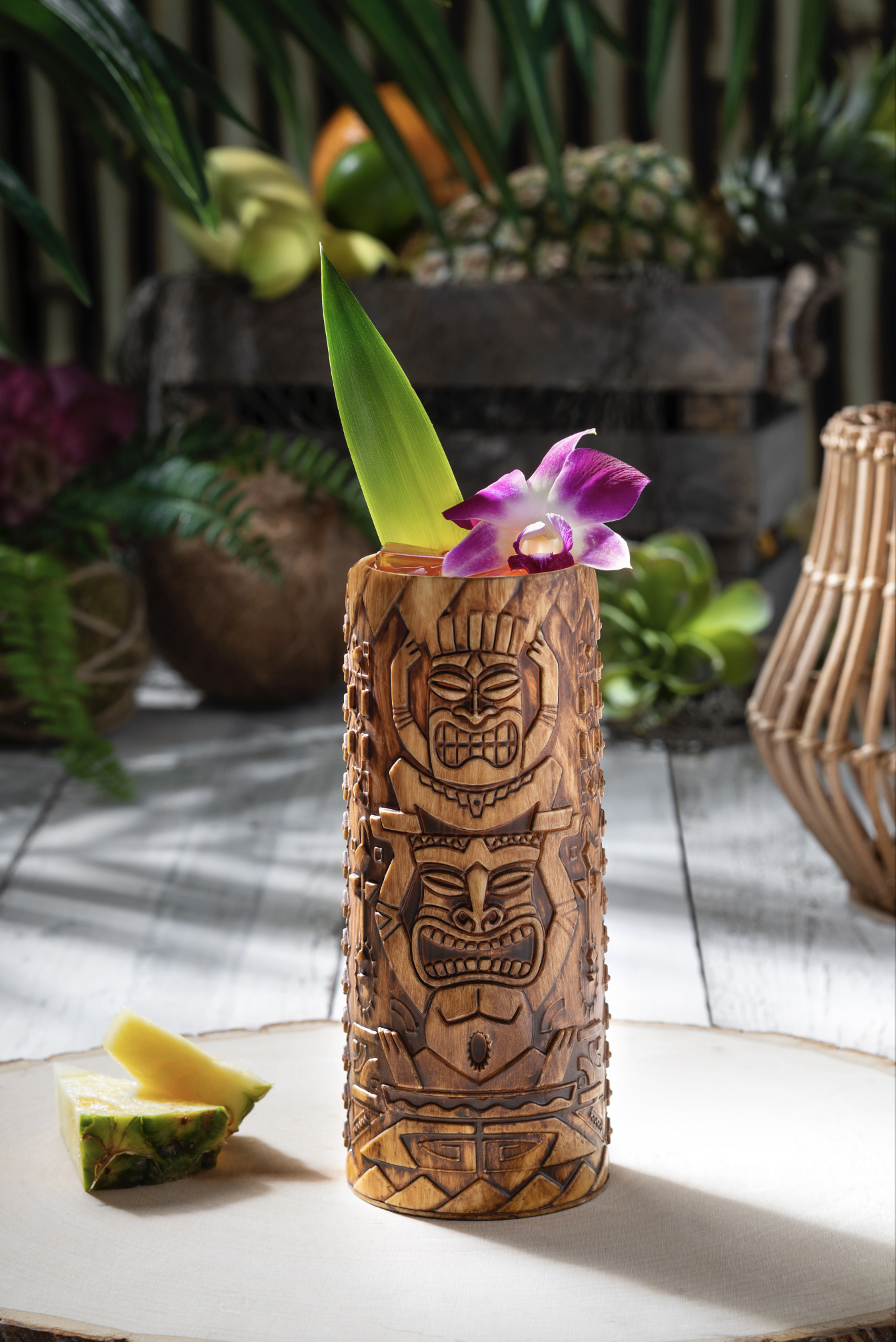 Etched Tiki Cup