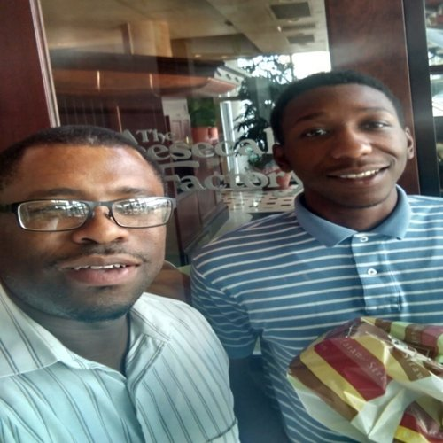 Pictured: Mentor Eric & Mentee Tevin