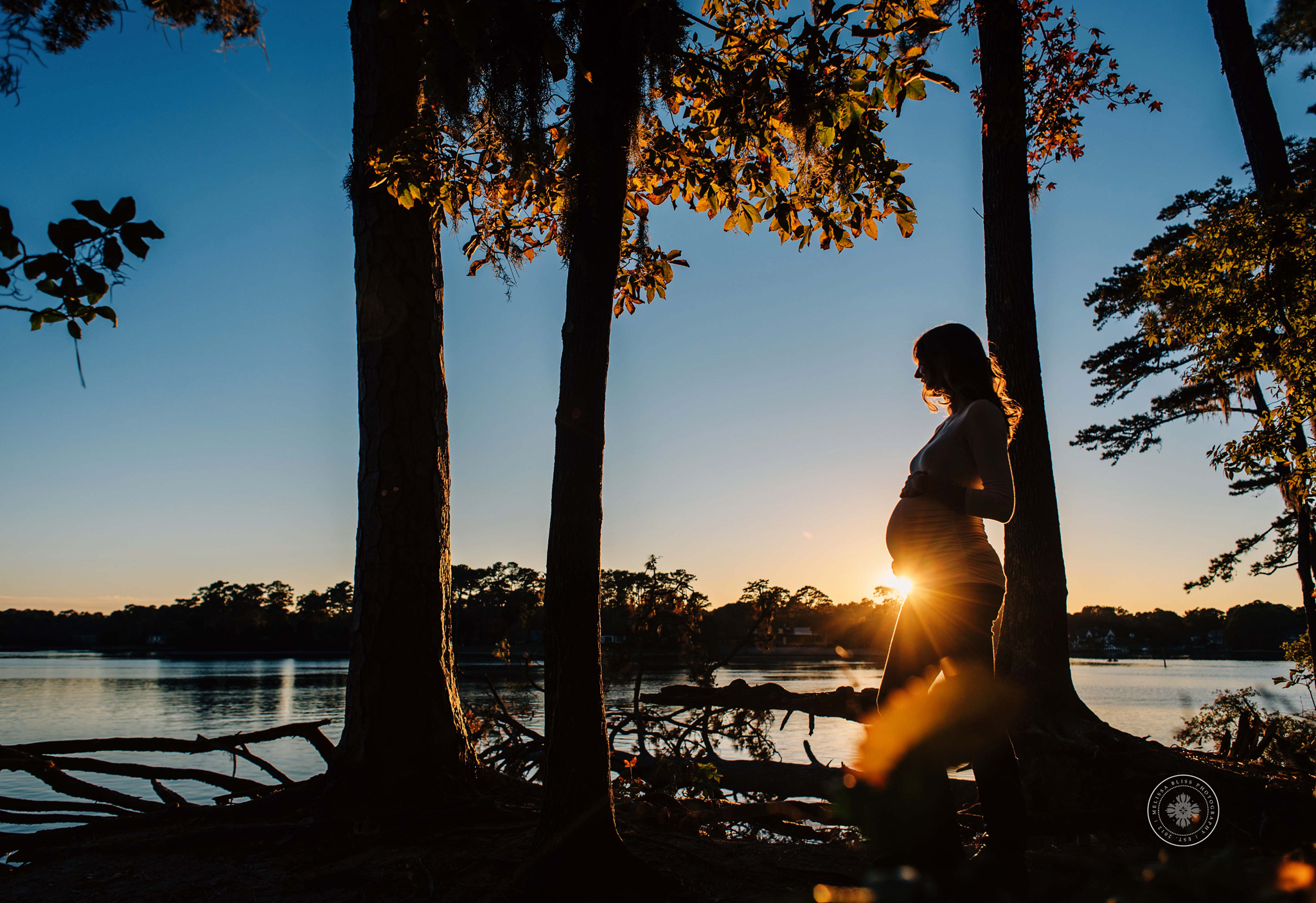 first-landing-state-park-at-sunset-maternity-portrait-melissa-bliss-photography