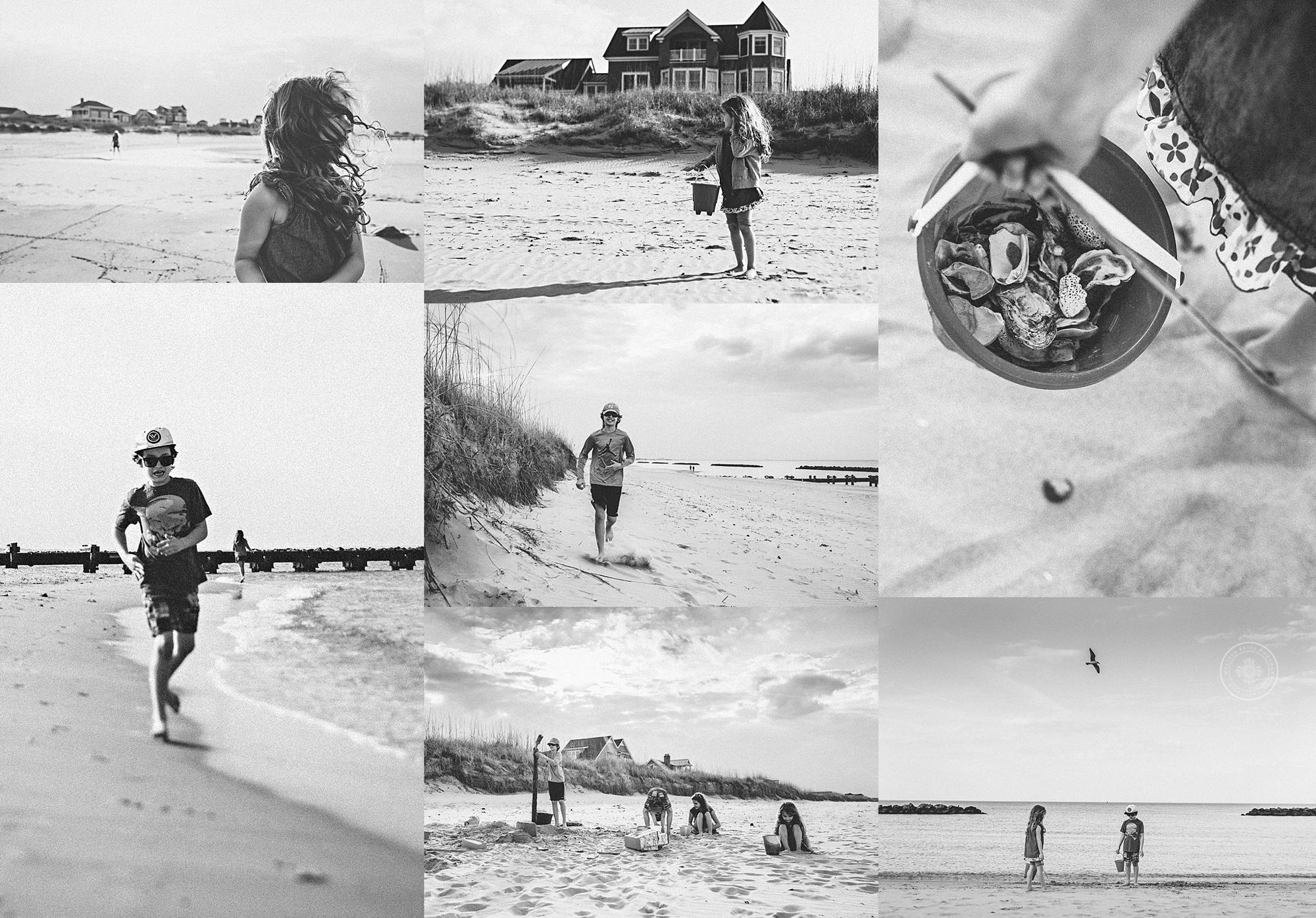 sandbridge-photographers-documentary-day-at-the-beach-black-white-photos-melissa-bliss-photography