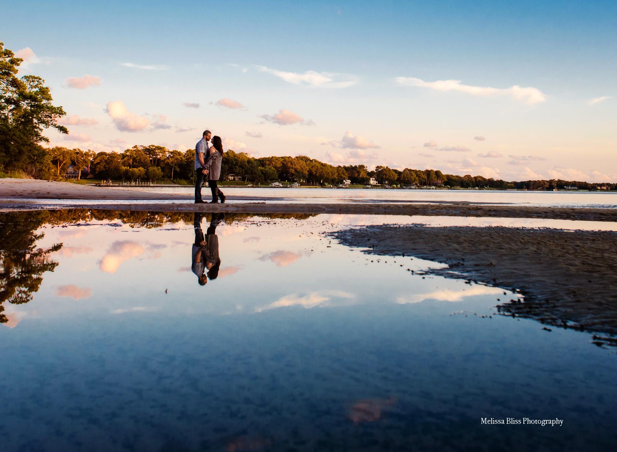 engagement-picture-couple-in-sunset-reflection-norfolk-virginia-beach-wedding-photographer-melissa-bliss-photography-destination-elopementscotland.jpg