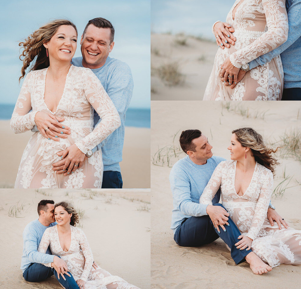 Beach Maternity Portraits Creative Maternity Photos In Virginia Beach Melissa Bliss Photography