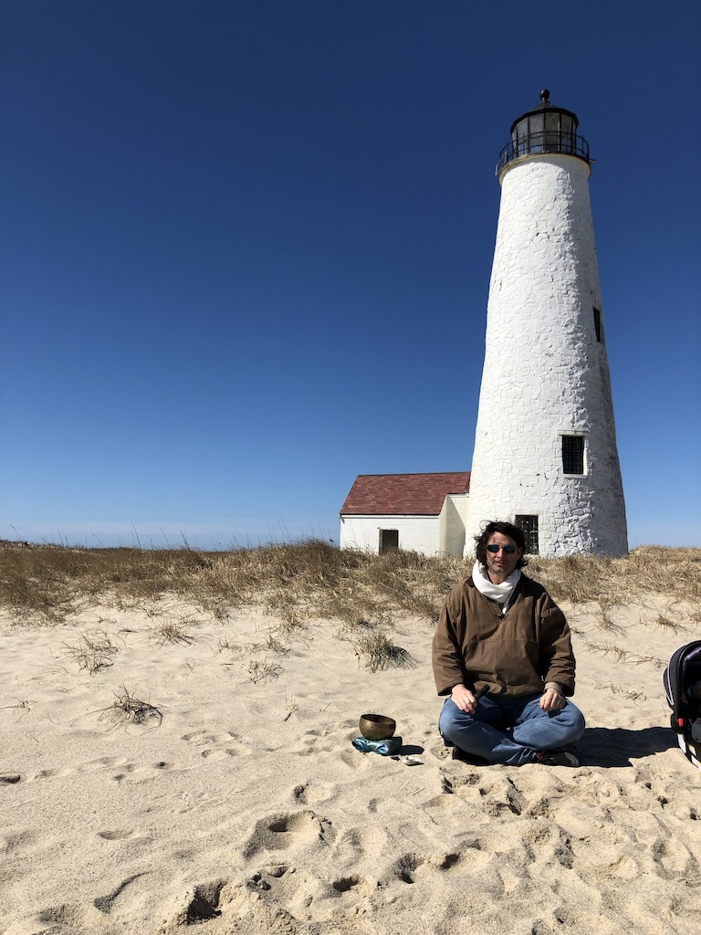 Brandon Jellison at the Great Point Lighthouse, Nantucket, MA