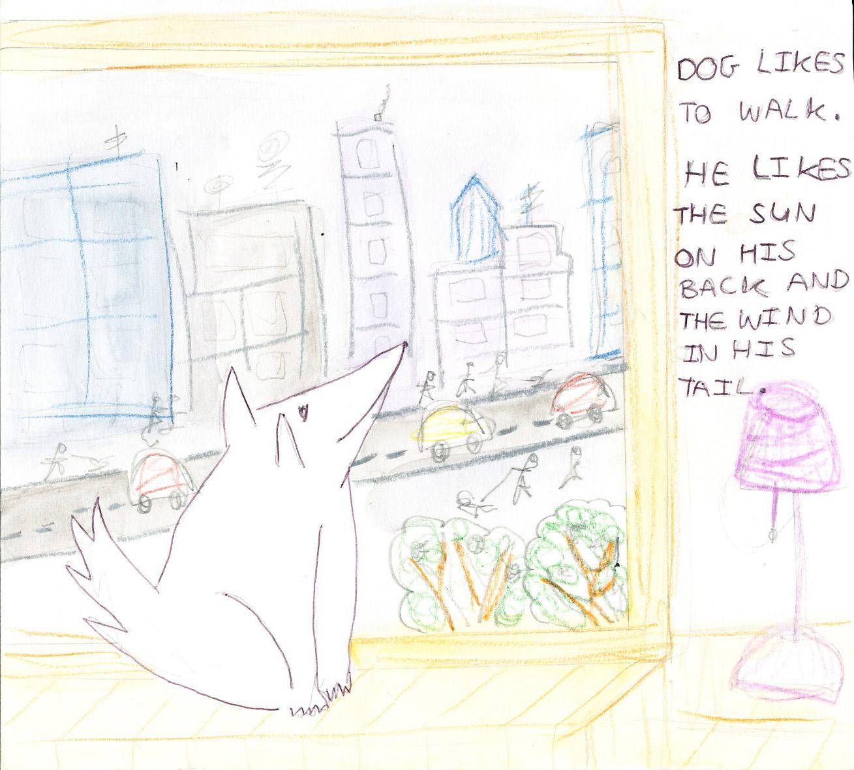 Southdowns Dog by Morwenna Garrett-Bannister