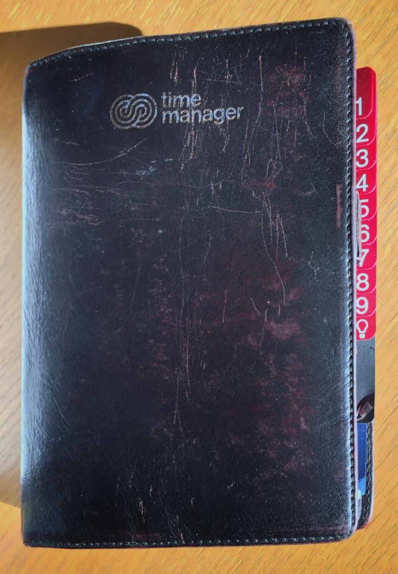 Bjørns gamle time manager