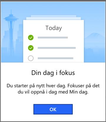 To-Do appen fokuserer på hva du vil gjøre i dag
