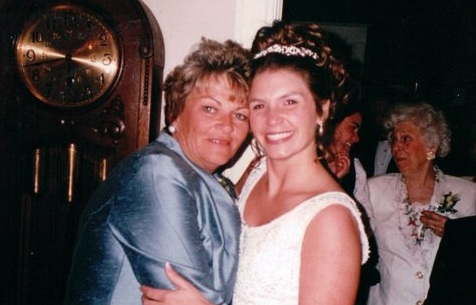 My mother and I at my wedding. I'm sure she couldn't believe her baby was getting married!