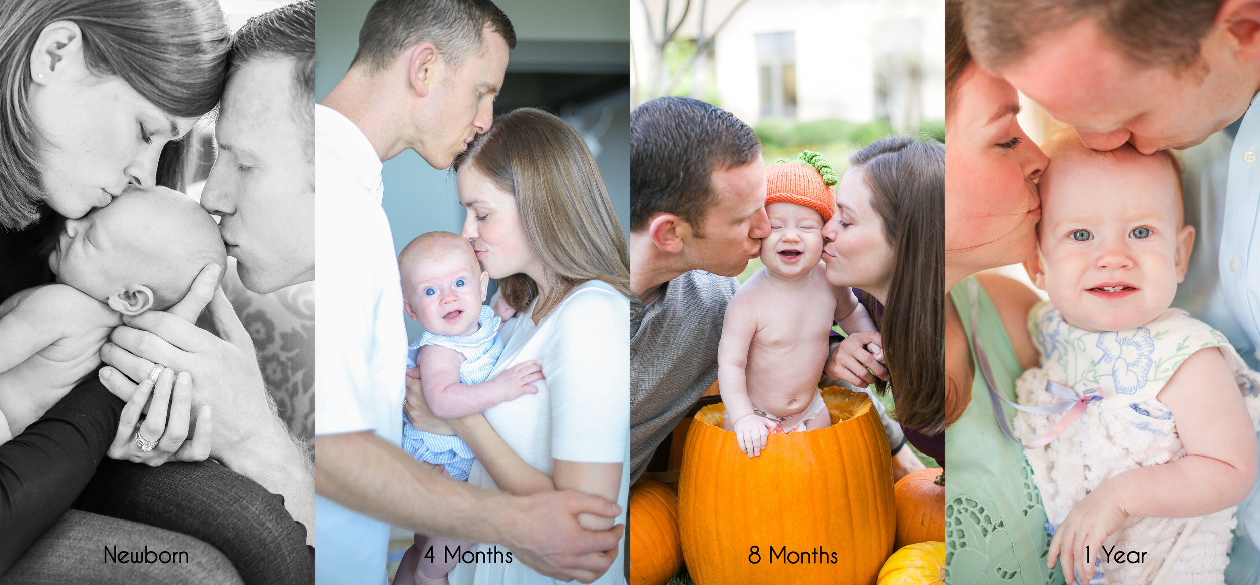 Her parents are so in love with their sweet babe & I love seeing the progression of photos showing all the love they have for their precious daughter.