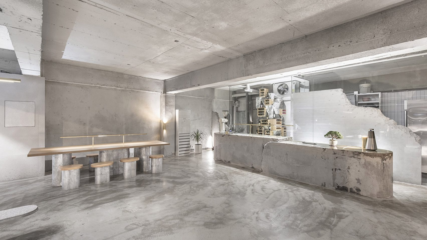 Photo Credit: Jeonghwa       Seo   We are absolutely in love with the raw, crisp and fresh interior of Et Cetera Cafe in Seoul with interior design by Jeonghwa   Seo. have a further look  here..