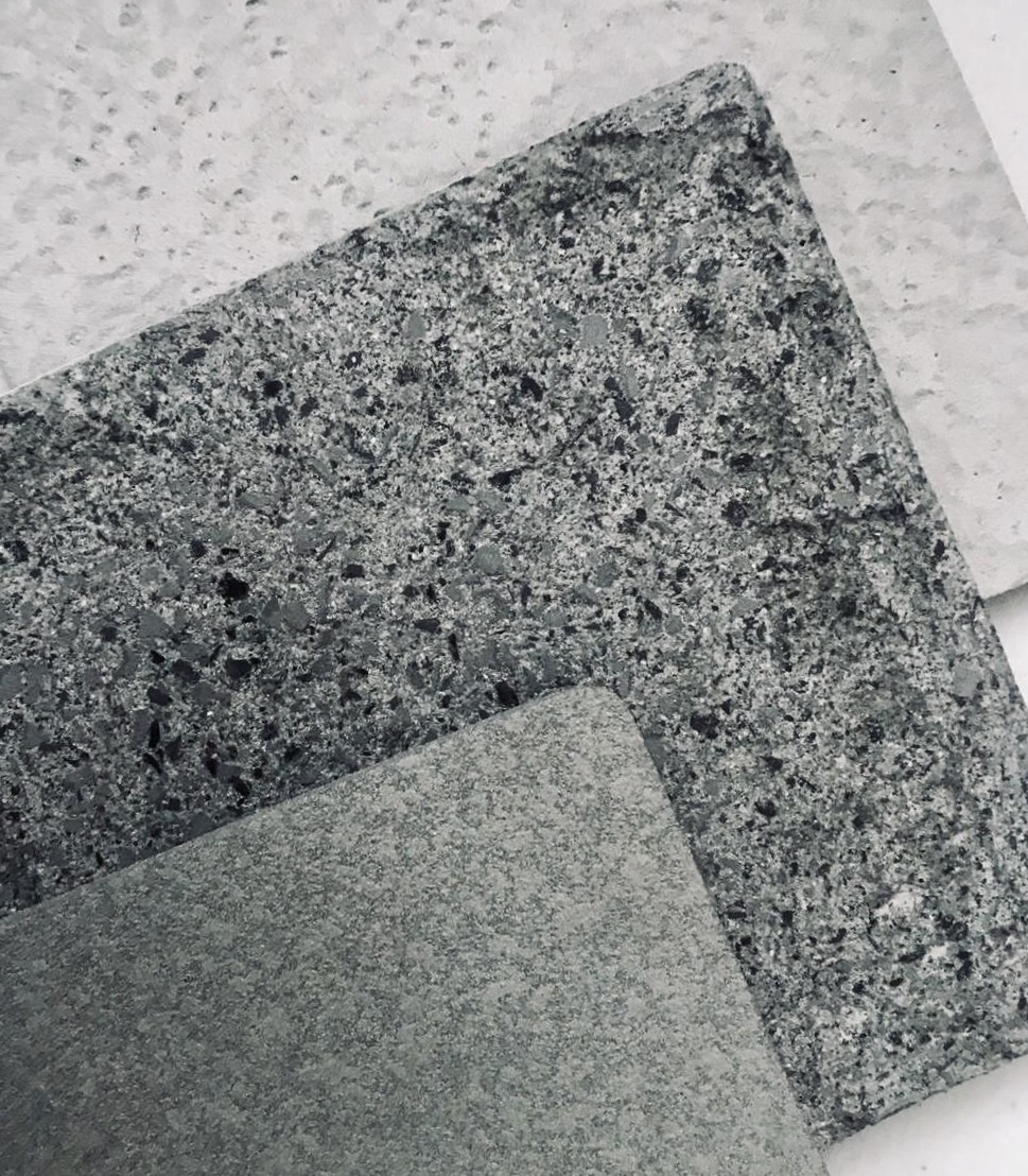 Stone and concrete effects we spotted at the Visual Marketing show yesterday.