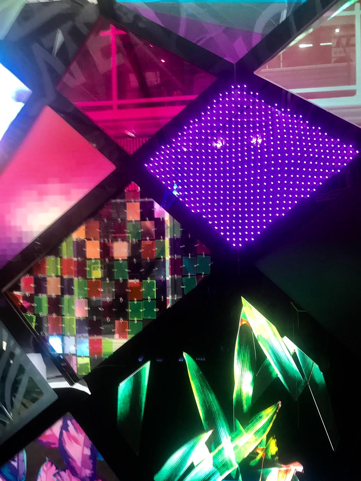 Dichroic Dreams   We loved Floreeda's colourful dreamlike stand which shows how playful and versatile acrylic can be, with infinity screens and projections and reflective materials